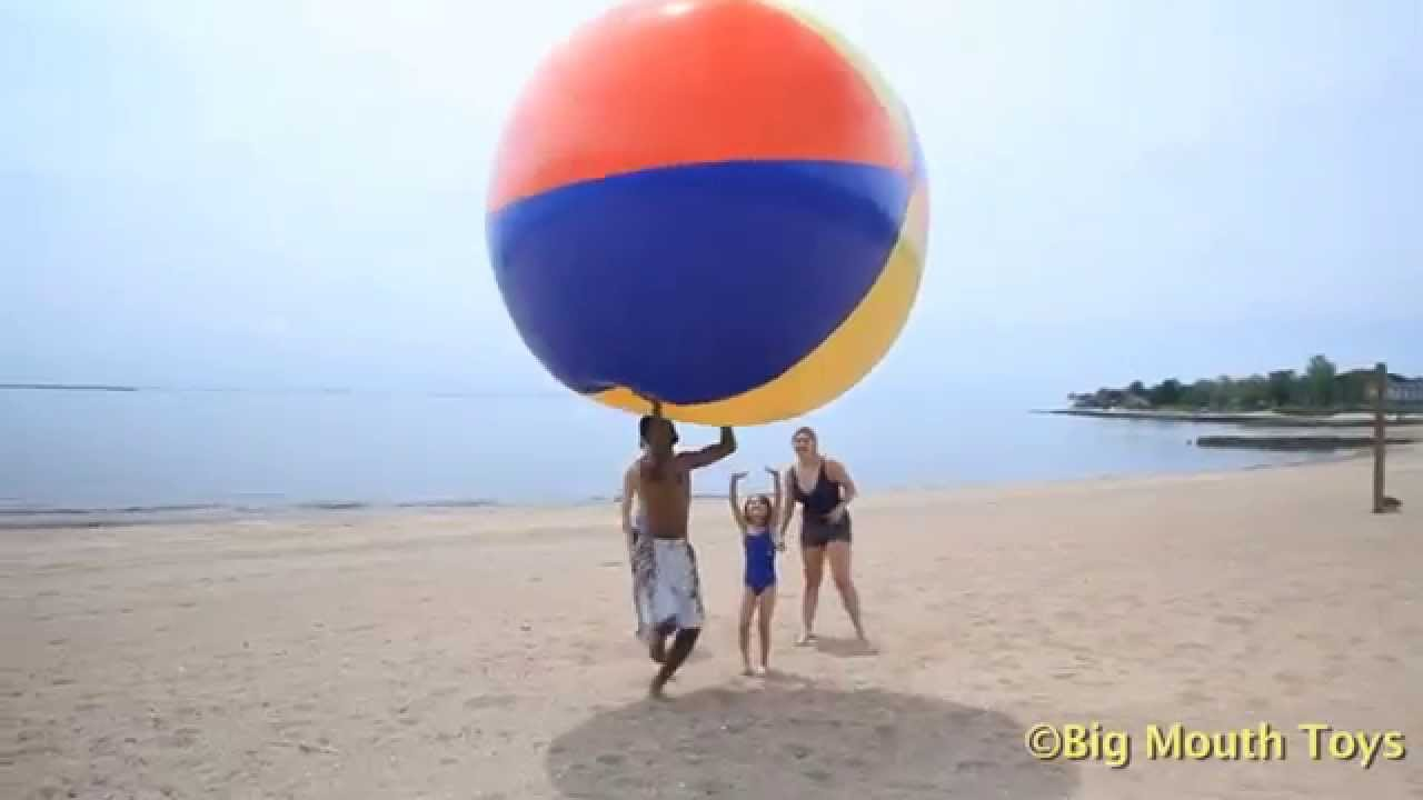 BigMouth   Inflatable Pool Float   Giant Beach Ball   YouTube