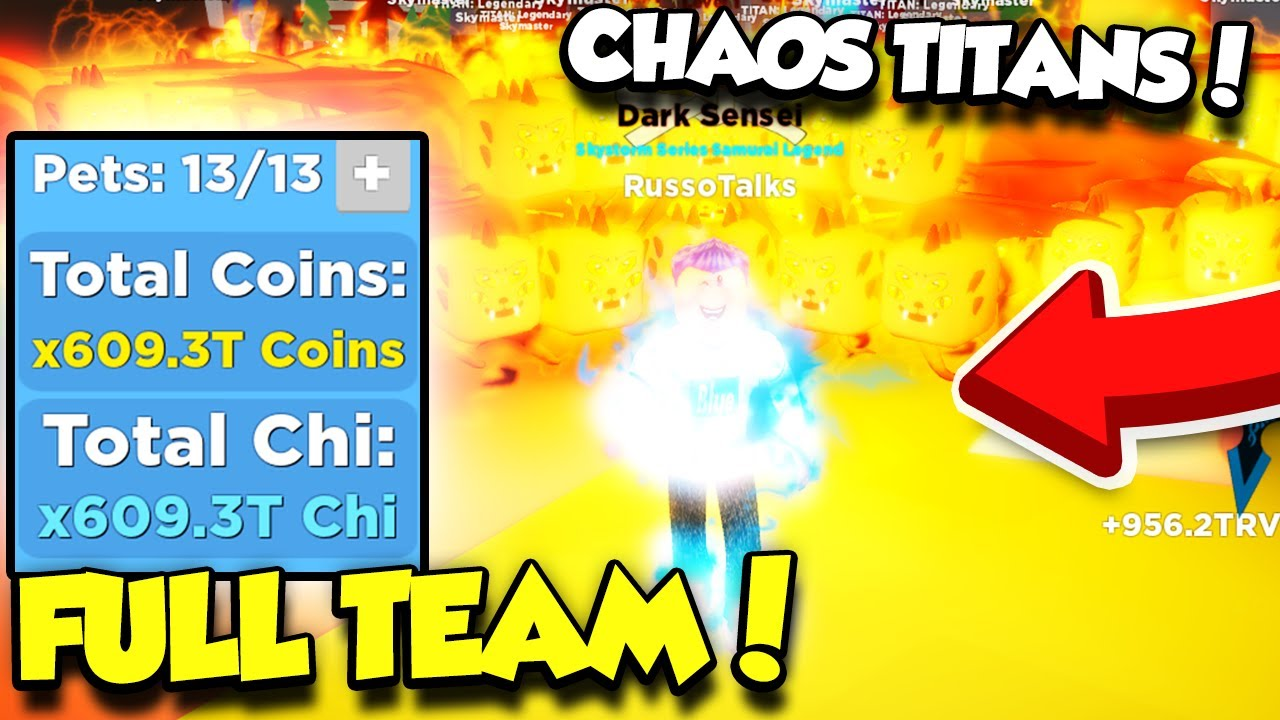 GETTING A FULL TEAM OF CHAOS TITAN PETS FOR 35,000 ROBUX IN NINJA LEGENDS UPDATE! (Roblox)