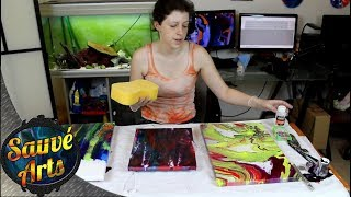 How I Varnish My Fluid Acrylic Paintings