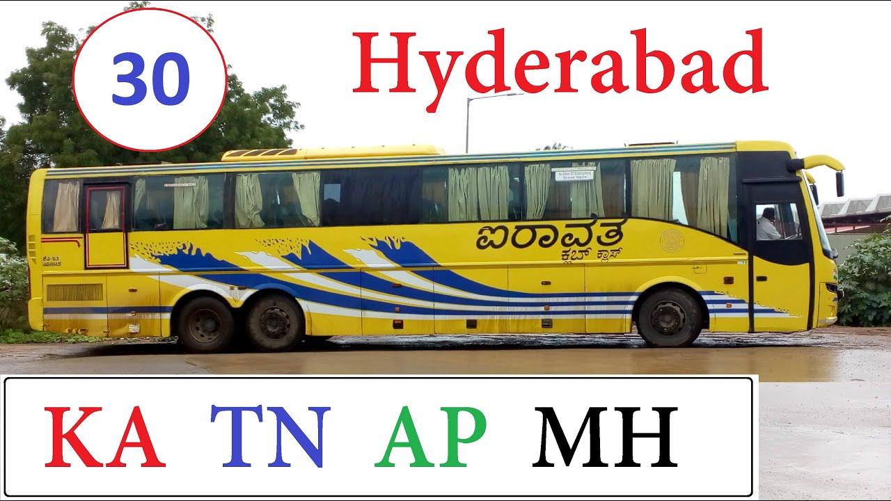 30 Long Distance Buses to Hyderabad ( Mangaluru Chennai Vizag Nanded )
