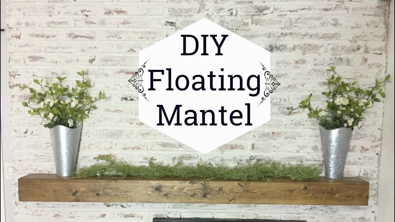Diy Floating Mantel Or Shelf How To Make Rustic Wood