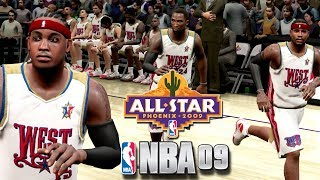 Playing NBA 09' The Inside 🏀 PS3 In 2018!!! NBA All-Star Game 2009 Team Carmelo vs Team Lebron!!!