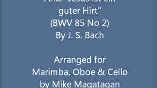 "Aria: ""Jesus ist ein guter Hirt"" (BWV 85 No 2) for Marimba, Oboe & Cello"