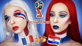 Maquillage COUPE DU MONDE 2018   Finale France vs Croatie