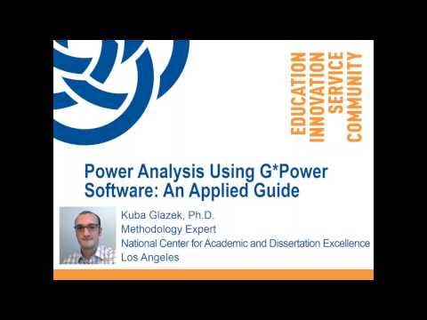 Power Analysis Using G*Power Software: An Applied Guide