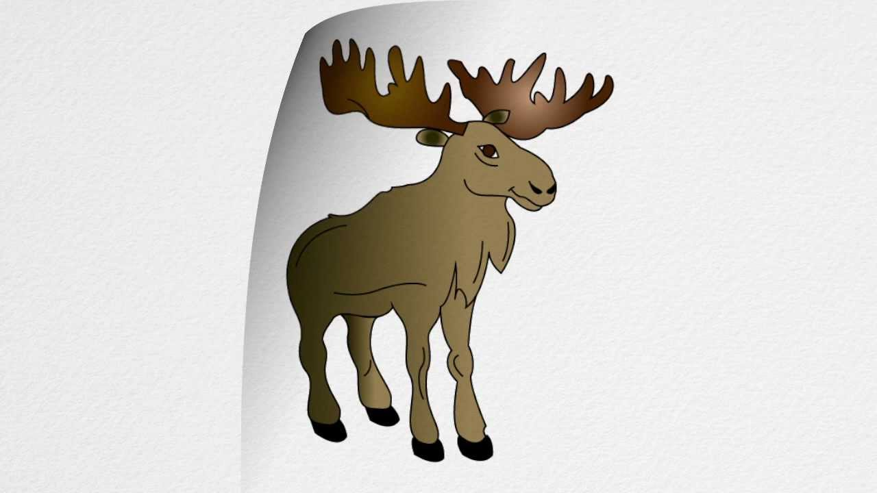 How to draw a moose step by step youtube thecheapjerseys Images