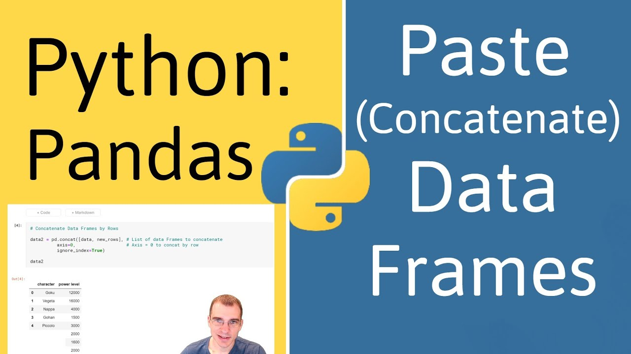 How to Concatenate Data Frames in Pandas (Python)