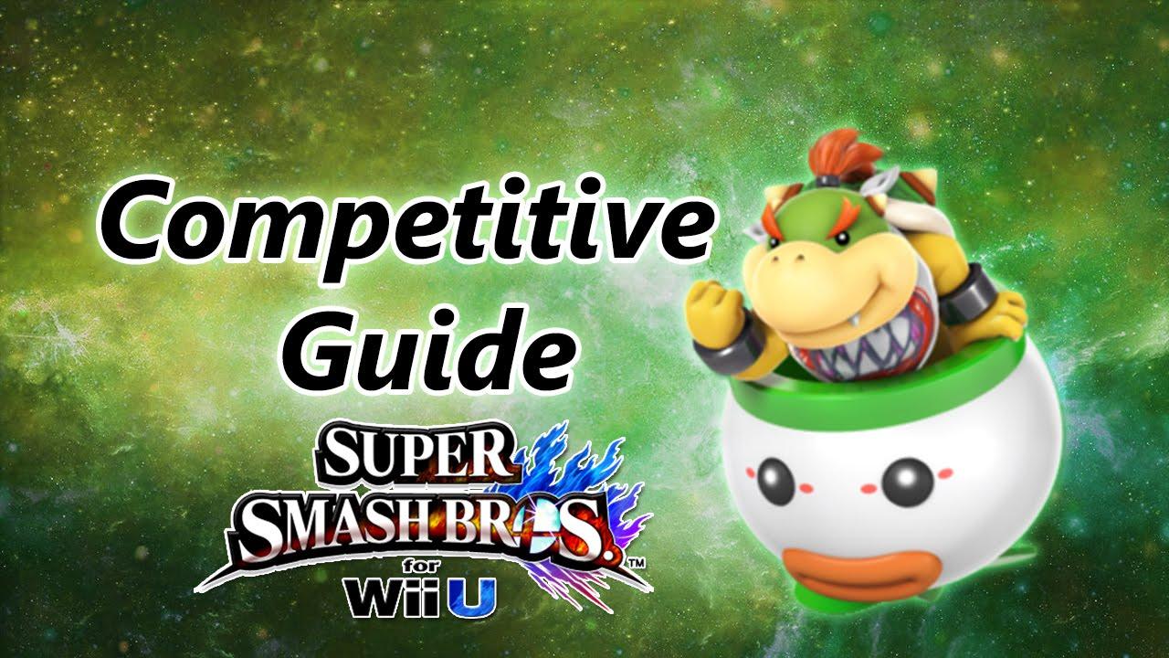 Super Smash Bros For Wii U Bowser Jr Competitive Tutorial