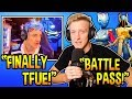 "Ninja Reacts To Tfue ACCEPTING ""BATTLE PASS"" SEASON 7! Fortnite Moments"