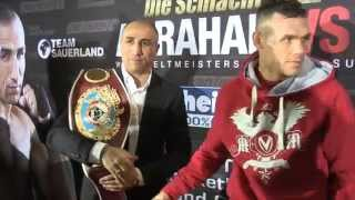 ARTHUR ABRAHAM & MARTIN MURRAY SHAKE HANDS AFTER TOUGH FIGHT IN GERMANY