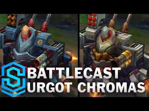 Battlecast Urgot Chroma Skins