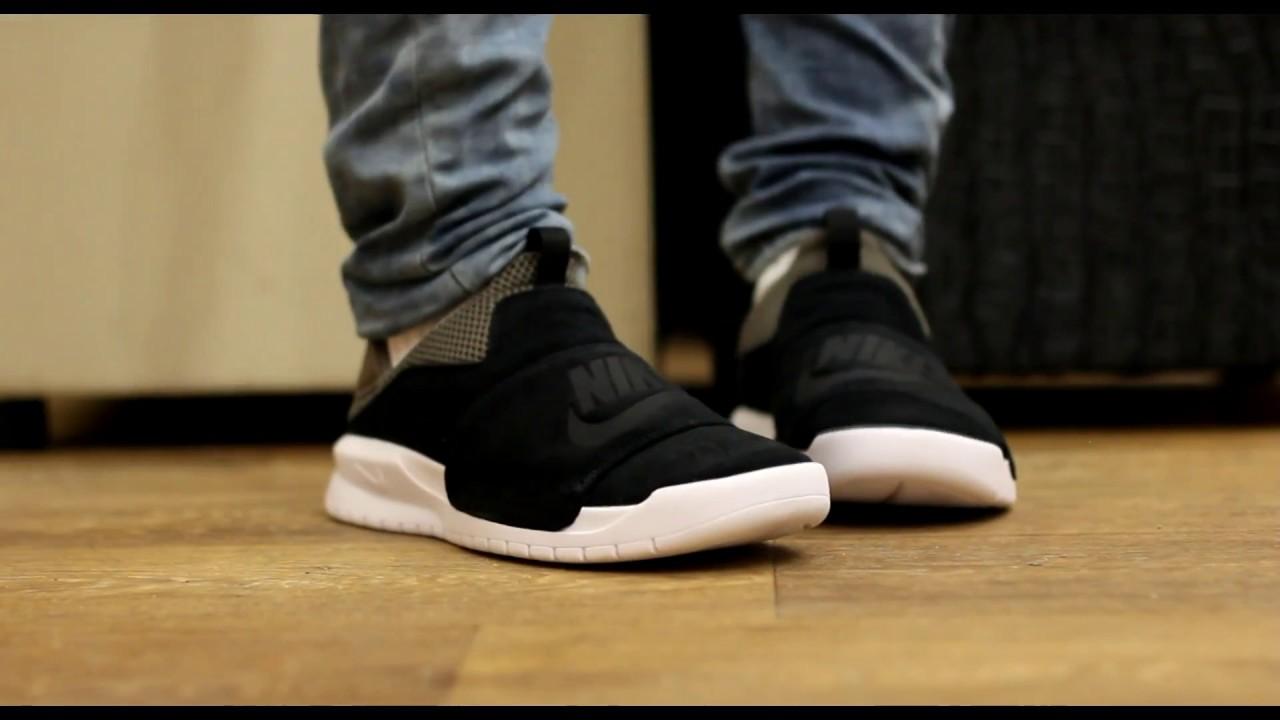 new concept 06ab8 6c7a4 ONFEET  Nike Benassi Slip-On BlackGrey - YouTube