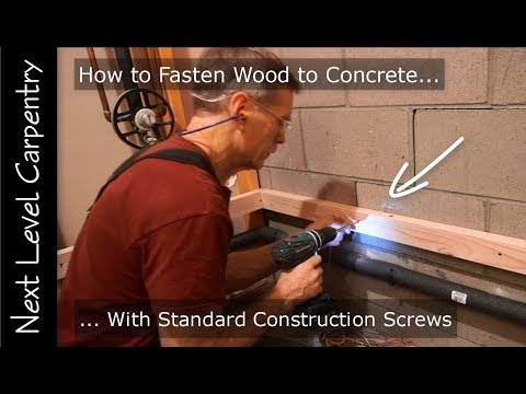 Master Carpenter Hack: How to Fasten Wood to Concrete with Standard Construction Screws