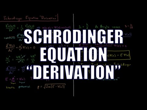 "Quantum Chemistry 3.1 - Schrodinger Equation ""Derivation"""