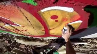 Graffiti - Rake43 - Paint and Debris