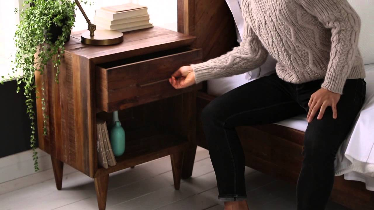 The Alexa Reclaimed Wood Furniture Collection | West Elm   YouTube
