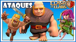 Clash of Clans: ATAQUES CON GIGANTES, BARBAROS Y ARQUERAS - Consejos y trucos! EP.3