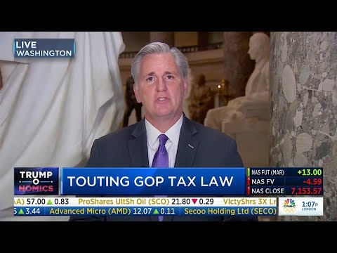 Trump Tax Plan | Kevin McCarthy Talks Walmart Wage Increase, Tax Reform on CNBC