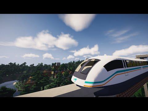 Minecraft Shanghai Maglev Train [Real Train Mod]