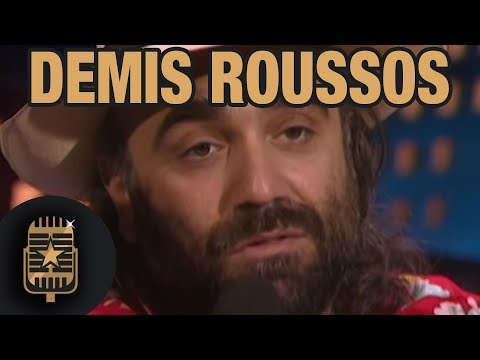 Demis Roussos is interviewed by TopPop's Leonie Sazias • Celebrity Interviews