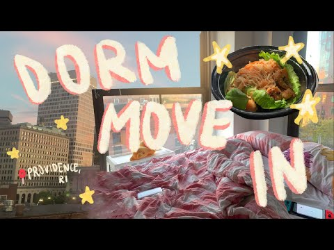 ✨COLLEGE DORM MOVE IN DAY 2020 // art school (RISD) quarantine meals, walks, etc.