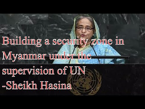 Sheikh Hasina proposed a five-point plan for solve Rohingya crisis.