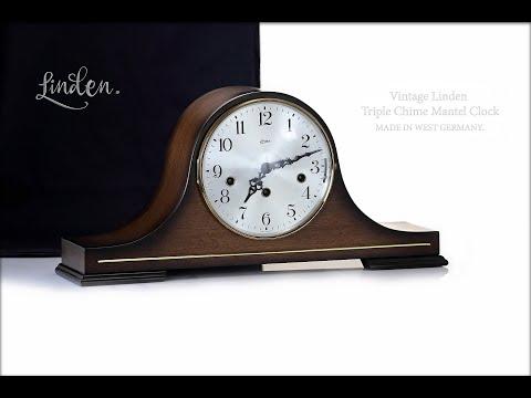 Vintage Linden Triple Chime Mantel Clock. Made In West Germany. Четвертные часы с тройным боем.