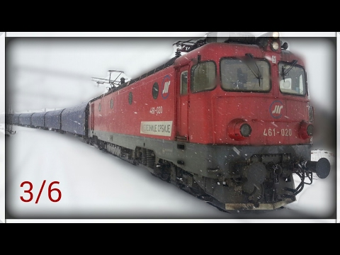 Train cab wiev Serbia - Freight train on the section from Mala Krsna to Ostruznica 3/6