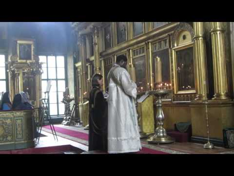 иподиакон Иоаким читает Символ веры (Старообрядцы - Lipoveni - Old Believers)