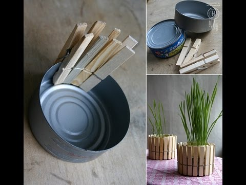 diy home decor tuna can to modern plant decoration youtube