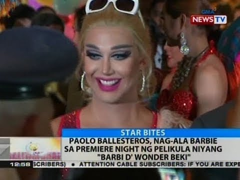"BT: Paolo Ballesteros, nag-ala barbie sa premiere night ng pelika niyang ""Barbi D' Wonder Beki"""