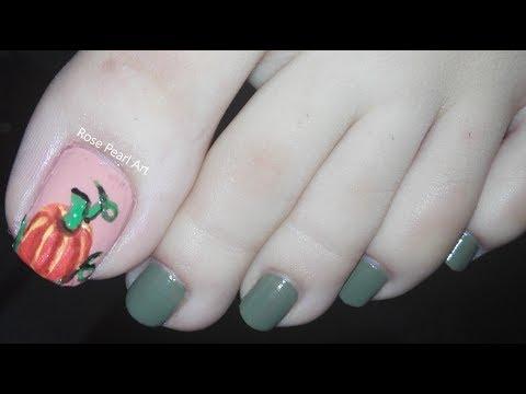 Thanksgiving Pumpkin Pedicure Nail Art Tutorial-Holiday Nails/Fall Nails/Festive Nails | Rose Pearl thumbnail