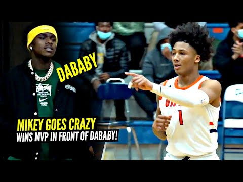 Mikey Williams Goes CRAZY In Front of DABABY & Wins MVP!! Mikey Coming For That #1 SPOT!!