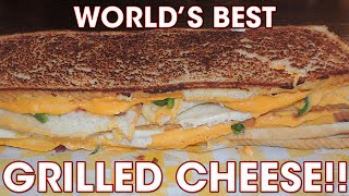 World's BEST Grilled Cheese 5 LAYER 8 POUND Sandwich Challenge!!