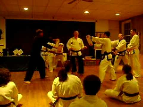 Tae Kwon Do black belt testing Mr. George Watts br...