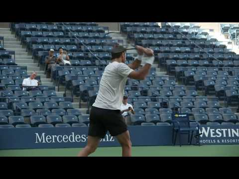 Juan Martin Del Potro 2018 US Open Tennis Practice