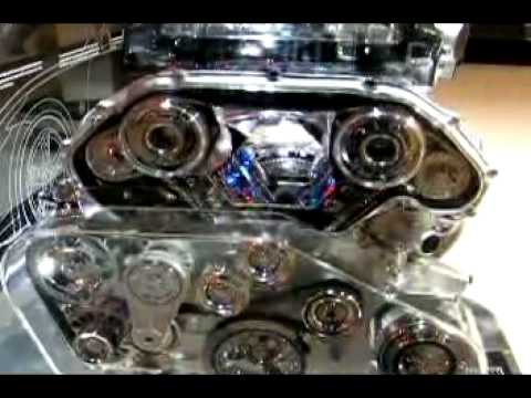 nissan 370z engine display at the la auto show youtube. Black Bedroom Furniture Sets. Home Design Ideas