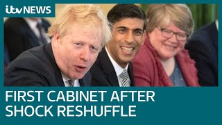 Boris Johnson chairs first Cabinet meeting after ministers leave in dramatic reshuffle | ITV News