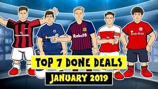 ✍️Top 7 Done Deals 2019!✍️ (Piatek, De Jong, Pulisic, Pavard, Suarez Transfer Window Parody)