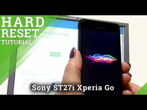 Hard Reset Sony ST27i Xperia Go