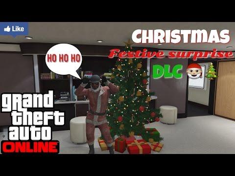 "GTAV online ""Christmas Surprise DLC - New Clothes, Mask & Christmas Tree ^_^ (Livestream Broadcast)"