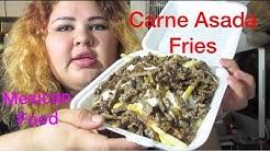 Carne Asada Fries, Bean& cheese Burrito Mexican Food MUKBANG