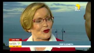 Thami Dickson speaks to Helen Zille ahead of vote casting