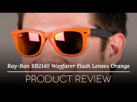 3da62ac9c Ray Ban RB4105 Wayfarer Flash Lenses Orange Review - YouTube