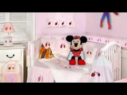 9 Piece Pink & Red Lady Bug Theme Crib Set By HC 50% Off Sal