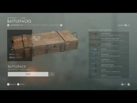 20x battlefield 1 battlepack opening  ( disappointment ) |