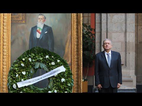 Centenario Luctuoso De Venustiano Carranza, Desde Patio De Honor De Palacio Nacional