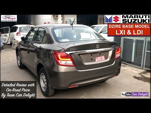Dzire 2018 Base Model LXi,LDi Detailed Review with On Road Price | Dzire Magma Grey Colour