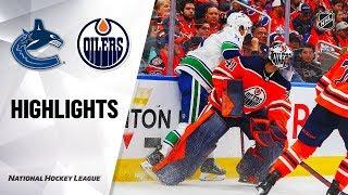 Canucks @ Oilers 10/02/19 Highlights