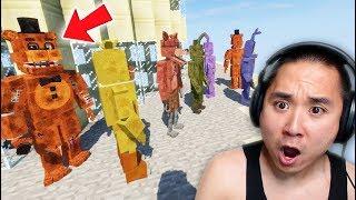 ANIMATRONICS FALL OFF TALLEST BUILDING IN GTA 5! (RedHatter FNAF Minecraft)